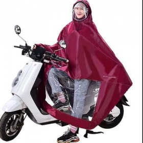 雨披电动车雨衣帽檐单人