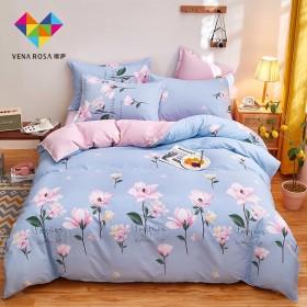 全棉四件套纯棉床上用品床单被套1.5米1.8米床