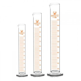 天玻玻璃量筒直型带刻度量杯