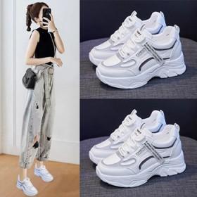 2021春季新款内增高老爹鞋女春秋韩版休闲运动鞋子