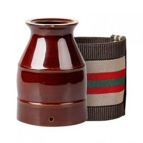 艾灸罐刮痧陶瓷防烫艾灸盒随身灸家用全身美...