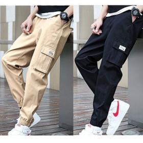 2件工装裤宽松束脚裤运动裤保暖裤男大码休闲裤