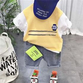 潮童装男童套装帅气3岁儿童短袖T恤5宝宝夏装202