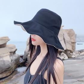 遮阳帽女户外双面戴渔夫帽太阳帽