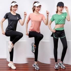 瑜伽服女套装健身服运动服套装女夏季秋跑步衣服女宽松