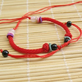 红绳编织手链DIY