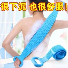 硅胶搓澡巾强力去污搓澡神器成人男女洗澡搓背不求人后