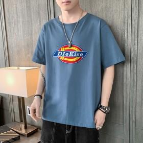 新款T恤男短袖圆领青年夏季个性宽松帅气简约t恤