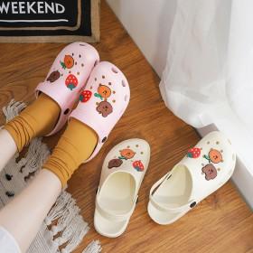 新款洞洞鞋女ins潮厚底包头外穿防滑护士时尚凉拖鞋