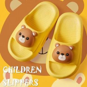 儿童拖鞋男女童夏小熊家居室内防滑浴室宝宝小童女凉拖
