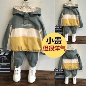 童装2021儿童新款洋气套装男童春秋款中大童两件套