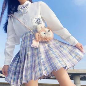 JK制服裙套装学院风衬衫百褶裙2件套