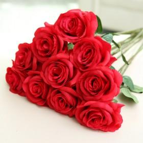 仿真玫瑰花假花束