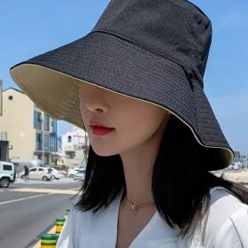 渔夫帽女春夏韩版潮日系双面遮脸防紫外线帽子太阳帽