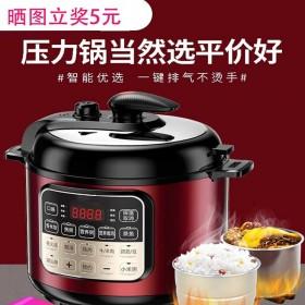 电压力锅5升大容量电高压锅家用全自动小型饭煲商用