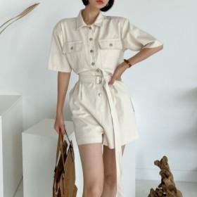 夏季韩版工装连体裤