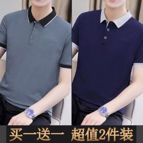 2件装男士短袖T恤潮牌POLO