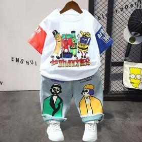 3岁男童夏装2021年新款套装8男孩衣服潮帅气5短
