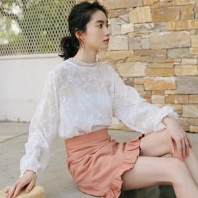 超仙雪纺防晒衬衫半身裙两件套装