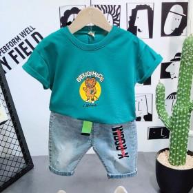 男童短袖套装2021年新款潮童装夏季儿童运动薄款宝