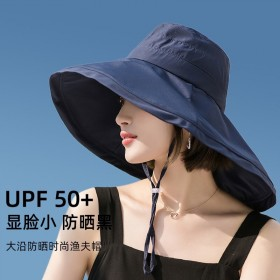 帽子女户外大檐可折叠防紫外线遮阳帽