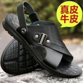 真皮软牛皮男士真皮凉鞋男夏季防滑沙滩鞋新款男鞋牛皮
