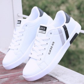 透气男鞋春季新款小白鞋男鞋子运动鞋休闲鞋时尚板鞋