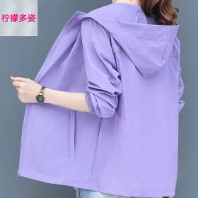 大码防晒衣女防紫外线韩版夏季防晒服短款宽松薄外套