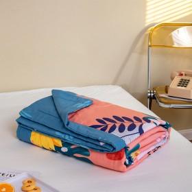 新疆全棉棉花夏凉被夏天空调被纯棉毛巾被可水洗亲肤