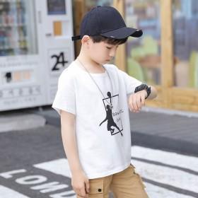 【两件装】纯棉短袖中大童半袖T恤韩版宽松