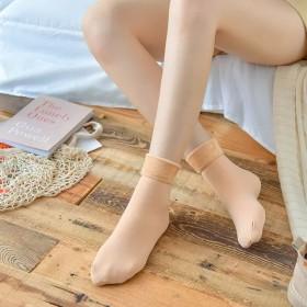 纯色均码包邮秋冬加绒加厚雪地女士休闲袜