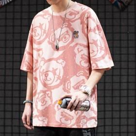 短袖T恤男潮牌日系百搭半袖体恤潮流嘻哈宽松上衣