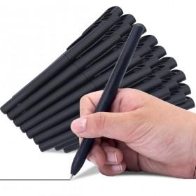 A-12支中性笔加12支笔芯套装黑色签字笔学生考试