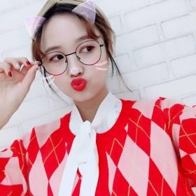 近视镜 抖音同款眼镜女韩版学生猫耳朵