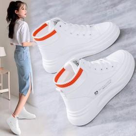 高帮小白鞋女韩版秋冬新款加绒ins运动鞋休闲鞋板鞋