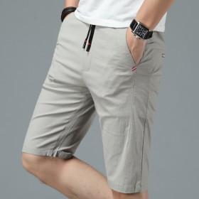 冰丝短裤夏季新款松紧腰修身休闲五分中裤抽绳运动短裤