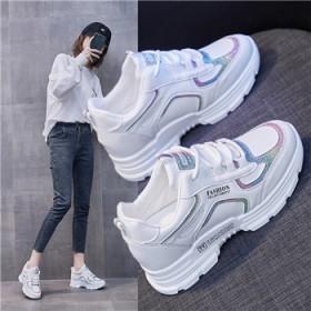 内增高老爹鞋女2021春季新款韩版学生运动鞋女增高