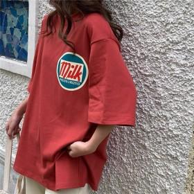 网红T恤女ins潮超火宽松夏季2021新款韩版上
