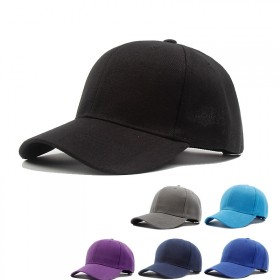 韩版情侣棒球帽男女遮阳帽纯色百搭街头鸭舌帽休闲学生