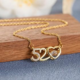 520款钛钢项链情人节礼物
