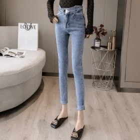 铅笔裤瘦紧身小脚裤高腰女裤韩版休闲裤新款牛仔裤