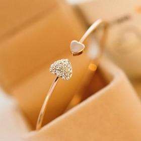 饰品满钻原创设计开口镀金手环
