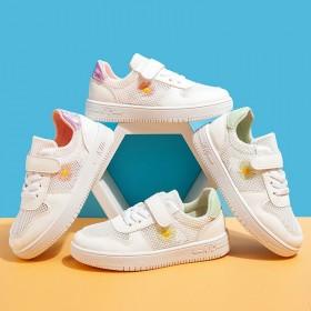 春秋小菊男女小学生实心软底运动鞋韩版跑步鞋透气防臭