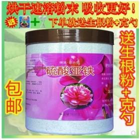 硫酸亚铁花肥料家用酸性花用铁肥杜鹃绿萝防黄叶养花