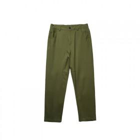 立体剪裁修身休闲裤纯色直筒长裤
