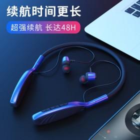 5.0运动蓝牙双耳机挂颈式迷你耳塞立体音苹果安卓