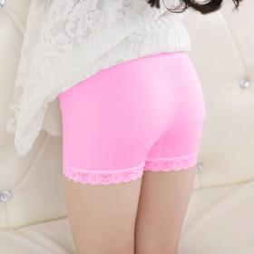 莫代尔女童安全裤夏季女孩薄款蕾丝透气无痕平角内裤宝