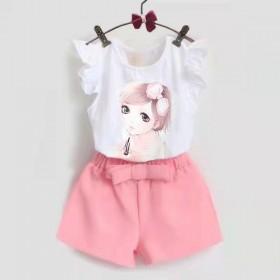 女童夏季短袖套装宝宝卡通动漫套头薄款两件套韩版
