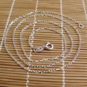 精品十字素银925纯银项链女细锁骨链