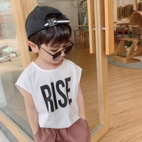 儿童无袖T恤印花上衣宝宝夏薄韩版背心休闲宽松百搭潮